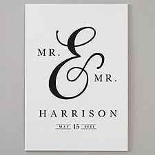 Moody Chic Personalized Wooden Wedding Signs - 28554