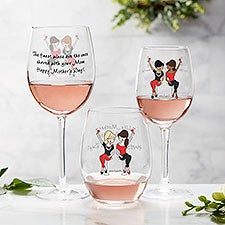 Like Mother Like Daughter Personalized Wine Glasses by philoSophie's - 28644