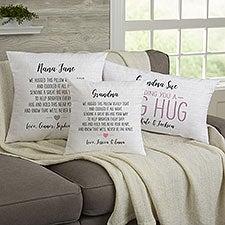 Hug Me Personalized Hug Throw Pillows - 28646