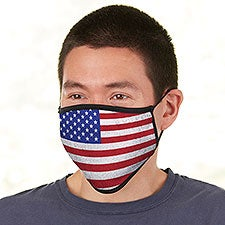 American Flag Personalized Adult Face Mask - 28653