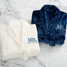 Mr. or Mrs. Embroidered Luxury Fleece Robes - 28709