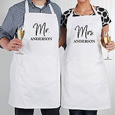 Classic Elegance Personalized Wedding Apron & Potholder - 28716