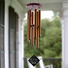 Stamped Elegance Personalized Wedding Wind Chimes - 28718