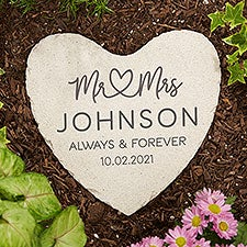 Infinite Love Personalized Wedding Heart Garden Stone - 28719