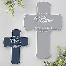 Classic Elegance Personalized Wedding Cross - 28721