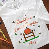 Personalized Halloween Clothes - Little Pumpkin Design - 2879