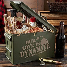 Our Love is Dynamite Personalized Romantic Ammo Box - 28834