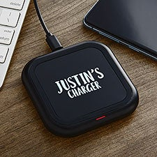 Write Your Own Personalized LED Wireless Charging Pad - 28957