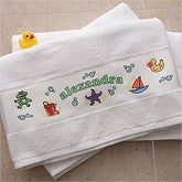 Bath Time© Personalized Bath Towel