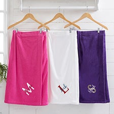 Playful Name Embroidered Women's Towel Wraps - 28988