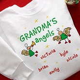 Personalized Christmas Angels Custom Sweatshirt