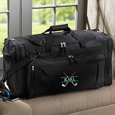 Crossed Clubs Embroidered Golf Duffel Bag - 29016