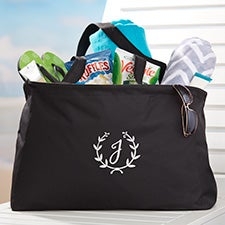 Floral Wreath Embroidered Ultimate Tote Bag - 29017