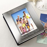 Engraved Silver Photo Frame Album - Personalized Free - 2922