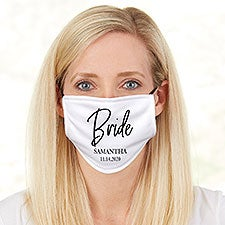 Classic Elegance Bride Personalized Adult Deluxe Face Mask with Filter - 29238