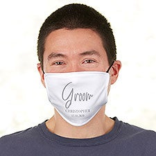 Classic Elegance Groom Personalized Adult Deluxe Face Mask with Filter - 29259
