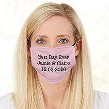 Wedding Expressions Personalized Adult Deluxe Face Mask with Filter - 29278