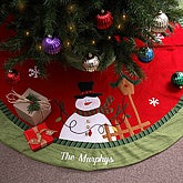 holiday magic snowman tree skirt icon