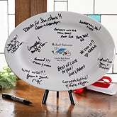 Personalized Graduation Signature Platter Keepsake - 2962