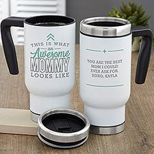 This is What an Awesome Mom Looks Like Personalized Commuter Travel Mug - 29629