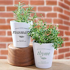 Herb Garden Personalized Mini Flower Pots - 29663