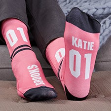 Athletic Number Personalized Women's Socks - 29686