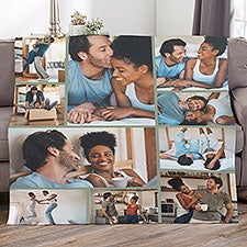 Photo Collage For Couples Personalized Photo Blankets - 29702