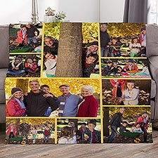 Photo Collage For Grandparents Personalized Photo Blankets - 29706