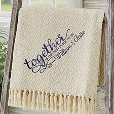 Together... Wedding Embroidered Afghan - 29789