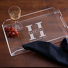 Lavish Last Name Personalized Acrylic Serving Tray - 29843