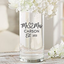 Infinite Love Personalized Glass Cylinder Wedding Vase - 29845