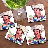 Personalized Photo Coaster Set - Let's Celebrate - 2986