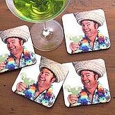 Personalized Photo Coaster Set - Let's Celebrate - 2986