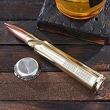Get Blitzed. Engraved Bullet Beer Bottle Opener - 29865