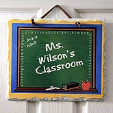 Personalized Teacher's Classroom Slate Plaque - 2989