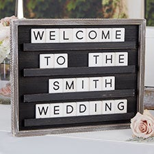 Wedding Welcome Changeable Black Letter Board & Tiles - 29994