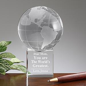 World's Greatest Mom Personalized Keepsake Globe - 10001