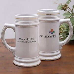 Personalized Corporate Custom Logo Ceramic Stein - 10015