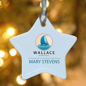Personalized Corporate Custom Logo Star Ornament - 10030