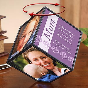Personalization Mall Mother's Day Gifts -  Personalized Spinning Photo Cube For Her at Sears.com
