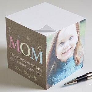 Custom paper photo note cube