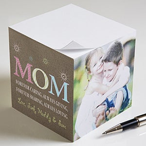 Personalized Photo Note Paper Cubes - For Mom - 10045