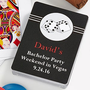 Personalized Bachelor Party Favor Playing Cards - Roll The Dice - 10056