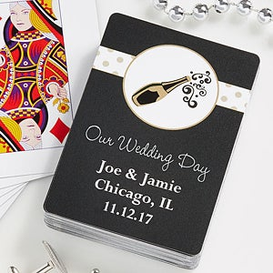 Personalized Wedding Favor Playing Cards - 10057