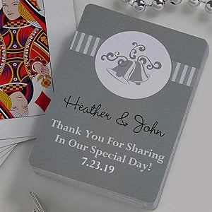 Personalized Wedding Favor Playing Cards - Bells - 10063