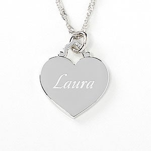 Personalized sterling silver heart necklace personalized sterling silver heart necklace 10065 aloadofball