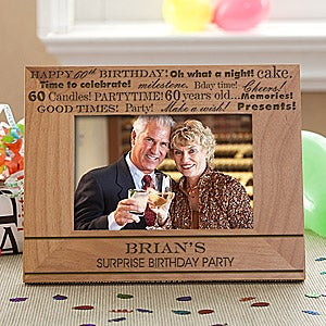 Personalized Birthday Picture Frame - Birthday Fun - 10097
