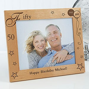 Personalized Happy Birthday Wooden Picture Frame - Birthday Memories Design - 1010