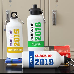 Personalized Graduation Water Bottle - Glad Grad - 10100