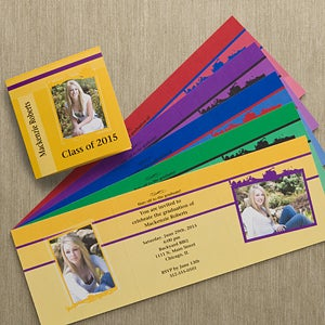 Personalized Photo Graduation Announcements - Tri-Fold - 10102